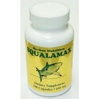 Squalamax - Natural Shark Squalamine Supplement - 650 mg/100 Capsules