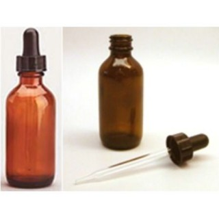 Amber Bottle & Dropper Set (for Cantron dosing) 2 oz